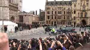 The Royal Family arrive at Westminster Abbey [Video]