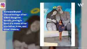 Vanessa Bryant Poses in Front of Kobe and Gianna Mural with Remaining Daughters [Video]