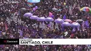 Hundreds of thousands protest violence against women in Chile [Video]