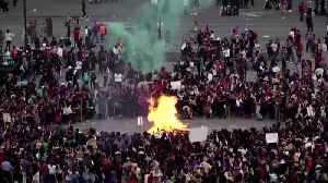 Violent clashes in Mexico City for International Women's Day [Video]