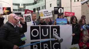Campaign to defend the BBC starts outside New Broadcasting House [Video]