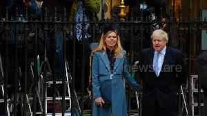 Boris Johnson and Carrie Symonds in Westminster on Commonwealth Day [Video]