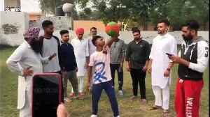 Indian boy breaks Guinness world record for longest time to spin basketball on the elbow [Video]