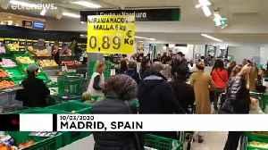 Coronavirus panic leaves Madrid supermarket looking like 'end of the world' [Video]