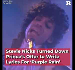 Stevie Nicks Turned Down Prince's Offer to Write Lyrics For 'Purple Rain' [Video]