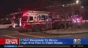 Fire At Bronx High-Rise [Video]