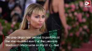 Miley Cyrus cancels performance at bushfire benefit concert [Video]
