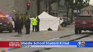 Boy, 12, Struck And Killed While Walking To School In South LA [Video]