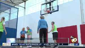 San Diego Splash playing hoops at over 80 [Video]