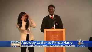 Trending Now: Apology To Prince Harry [Video]