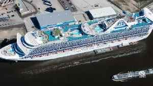 All clear for Caribbean Princess to dock after two crew members test negative [Video]