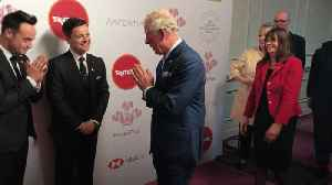 News video: Charles greets Ant and Dec with namaste gesture at Prince's Trust Awards