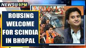 Bhopal: BJP's Jyotiraditya Scindia gets a grand welcome by BJP workers & leaders | Oneindia News [Video]
