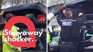 Police crack open car roof box and discover stowaway hiding inside [Video]
