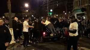 PSG fans celebrate Champions League win despite stadium ban due to coronavirus [Video]