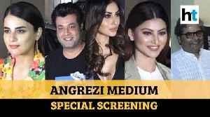 Angrezi Medium: Radhika Madan, Sanya Malhotra & others attend special screening [Video]