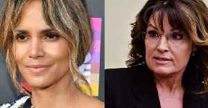Halle Berry may be related to Sarah Palin but don't expect them see them together at any family gatherings [Video]