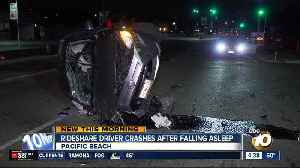 Rideshare driver falls asleep at wheel, crashes in Pacific Beach [Video]