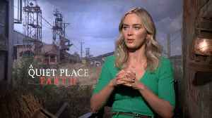 Emily Blunt Talks 'A Quiet Place Part II' [Video]