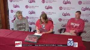 Concordia's Mueller Signs with Grace Volleyball [Video]