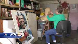 Labor of Love: Saucier artist creates artwork to honor Astronaut Fred Haise [Video]