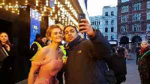 Ashley James and other celebrities arrive for the Mulan European film premiere in London [Video]