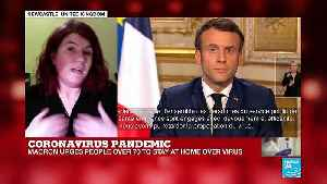 How did Emmanuel Macron do in his announces on coronavirus? [Video]