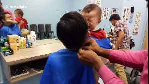 Every parent will relate to this footage of a screaming toddler getting his hair cut [Video]