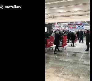 Panic buying in France following PM Macron's announcement to battle coronavirus [Video]