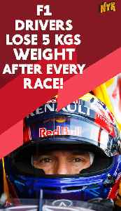Why do Formula 1 driver lose weight during each race * [Video]