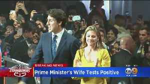 Canadian Prime Minister Justin Trudeau's Wife Tests Positive For Coronavirus [Video]
