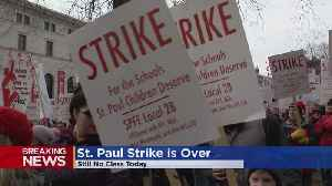 St. Paul Teachers Strike Over; Tentative Agreement Reached [Video]