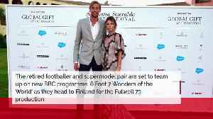 Peter Crouch and Abbey Clancy 'filming BBC travel show pilot' [Video]