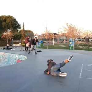 Guy on Rollerblades Falls After Failed Misty &20 Trick Attempt [Video]