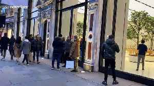 London's flagship Apple store on Regent Street seen closed as CEO Tim Cook announces ALL stores outside China to shut [Video]