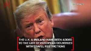 President Trump Considers Domestic Flight Restrictions & Confirms He's Been Tested for Coronavirus [Video]