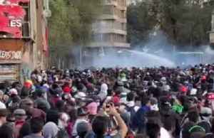 Chile bans public events over coronavirus as protests rock Santiago [Video]