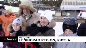 Russians amuse in creative home-made sledge riding [Video]