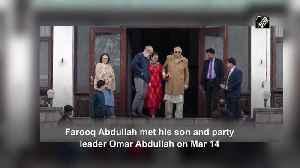 Farooq Abdullah meets under detention son Omar in Srinagar [Video]