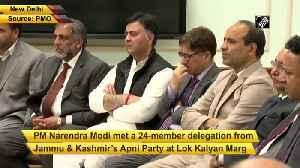 JK Apni Party delegation meets PM Modi in Delhi [Video]