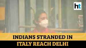 Coronavirus: Air India flight carrying 218 evacuated Indians from Italy lands in Delhi [Video]