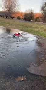 Kid Runs Over Frozen Pond and Falls Inside Cold Water [Video]
