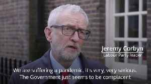 Jeremy Corbyn criticises the Government for it's 'strange' approach to Covid-19 advice [Video]
