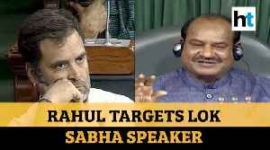 Rahul Targets Lok Sabha Speaker [Video]