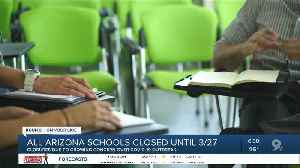 LIVE UPDATES: Arizona districts close over coronavirus concerns [Video]