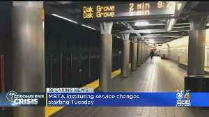 MBTA To Start Service Changes Tuesday Due To Coronavirus Concerns [Video]
