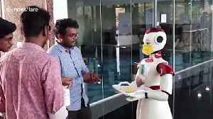 Robots in southern India used to dispense masks, napkins and hand sanitiser during COVID-19 pandemic [Video]