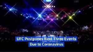 UFC Postpones Next Three Events Due to Coronavirus [Video]