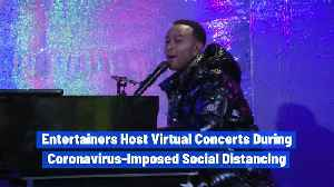 Entertainers Host Virtual Concerts During Coronavirus-Imposed Social Distancing [Video]