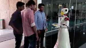 News video: Robots in southern India used to dispense masks, napkins and hand sanitiser during COVID-19 pandemic
